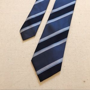 Navy and blue striped tie